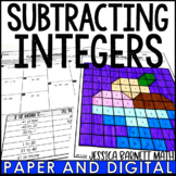 Subtracting Integers Activity | Coloring Page | Distance Learning | Digital