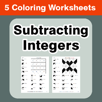 Subtracting Integers - Coloring Worksheets