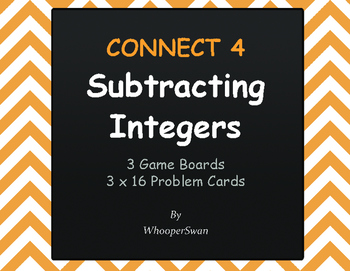 Subtracting Integers - Connect 4 Game