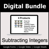 Subtracting Integers - Digital Bundle | Distance Learning