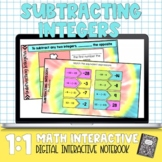 Subtracting Integers Digital Interactive Math Notebook