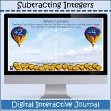 Subtracting Positive & Negative Numbers Digital Notebook