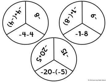 """Subtracting Integers """"Do-Si-Do"""" Find & Match Activity"""