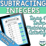 Subtracting Integers Drag and Drop Matching Activity (Digi