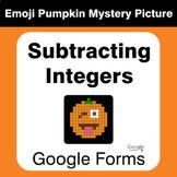 Subtracting Integers - EMOJI PUMPKIN Mystery Picture - Goo