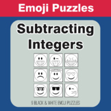 Subtracting Integers - Emoji Picture Puzzles
