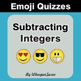 Subtracting Integers Emoji Quiz
