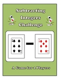 Subtracting Integers Game
