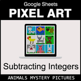 Subtracting Integers - Google Sheets Pixel Art - Animals