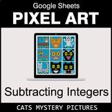 Subtracting Integers - Google Sheets Pixel Art - Cats