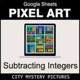 Subtracting Integers - Google Sheets Pixel Art - City