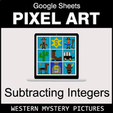 Subtracting Integers - Google Sheets Pixel Art - Western