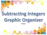 Subtracting Integers Graphic Organizer