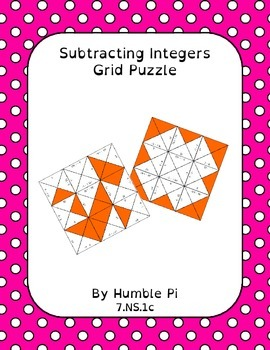 Subtracting Integers Grid Puzzle- 7.NS.1c