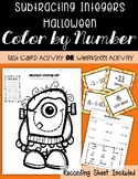 Subtracting Integers HALLOWEEN Color by Number