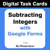 Subtracting Integers - Interactive Digital Task Cards - Go
