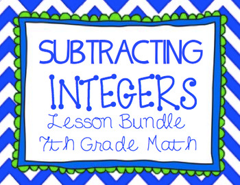 Subtracting Integers Lesson Bundle
