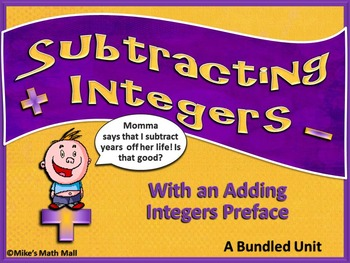 Subtracting Integers Made Easy (Mini Bundle)