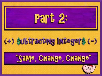 Subtracting Integers Made Easy (PowerPoint Only)