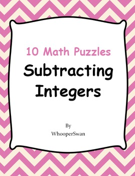 Subtracting Integers Puzzles