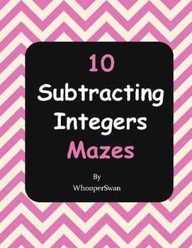 Subtracting Integers Maze