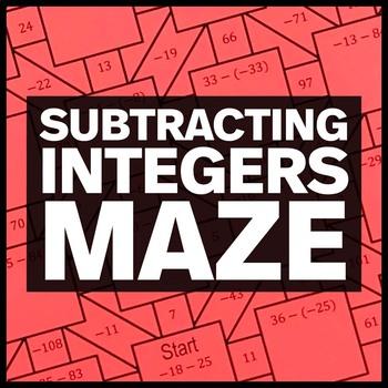 Subtracting Integers Maze + Bonus Mini Maze