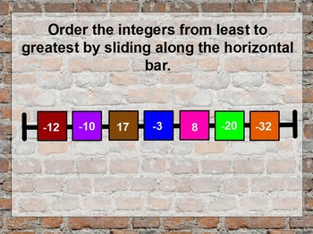 Subtracting Integers & Ordering Integers Flipchart w/ 2-Color Counters
