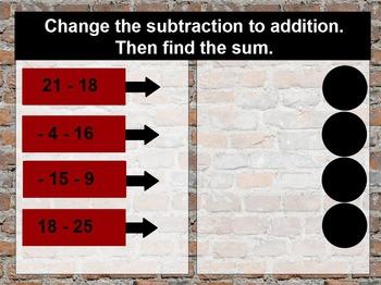Subtracting Integers & Ordering Integers Flipchart w/ 2-Color Counters