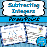 Subtracting Integers PowerPoint Lesson