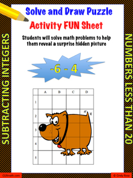 Subtracting Integers Puzzle Activity Worsheet