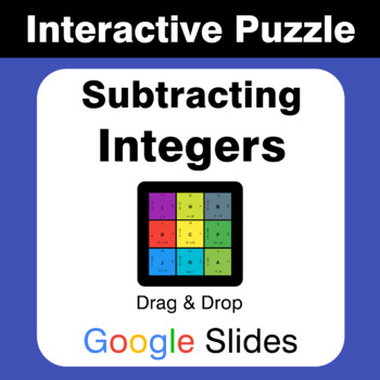 Subtracting Integers - Puzzles with GOOGLE Slides
