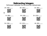 Subtracting Integers QR Codes