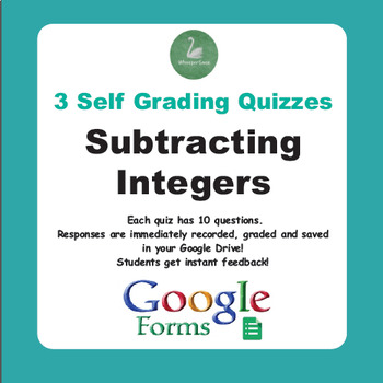 Subtracting Integers Quiz  (Google Forms)