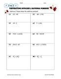 Subtracting Integers & Rational Numbers Worksheet