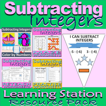 Subtracting Integers Resource Pack