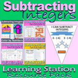 Subtracting Integers Resource Pack