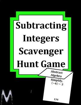 Subtracting Integers Scavenger Hunt Game