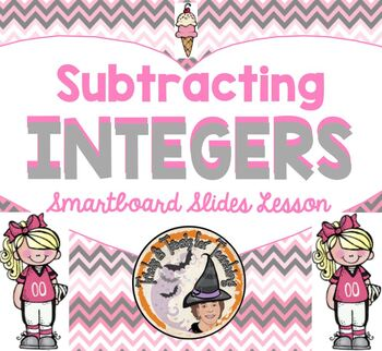 Subtracting Integers Smartboard Lesson Subtract Integer Modeling Counters Lines