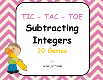 Subtracting Integers Tic-Tac-Toe