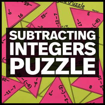Subtracting Integers Triangle Puzzle | TpT
