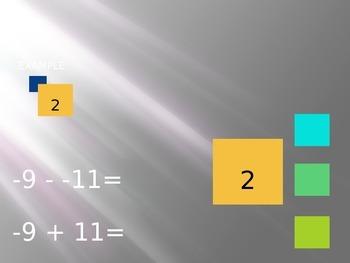 Subtracting Integers Tutorial