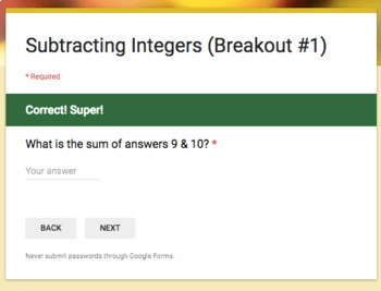 Subtracting Integers – Two Breakout Activities!