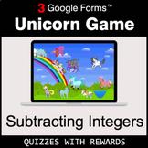 Subtracting Integers   Unicorn Game   Google Forms   Digit