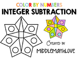 Subtracting Integers Worksheet - Color by Numbers