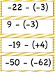 Subtracting Integers both positive and Negative Numbers