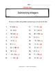 Subtracting Integers practice