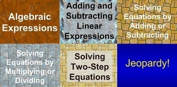 (7th) Expressions and Equations {Bundle} in a PowerPoint Presentation