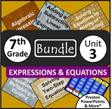 (7th) Expressions and Equations {Bundle} in a PowerPoint P