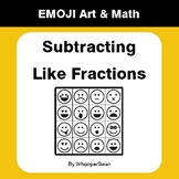 Subtracting Like Fractions - Emoji Art & Math - Draw by Number | Coloring Pages
