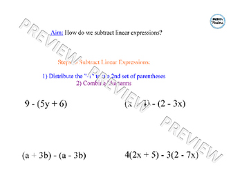 Subtracting Linear Expressions